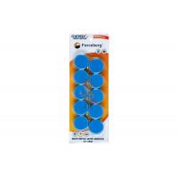 Магнит для магнитной доски Forceberg 30 мм, зеленый, 10шт. - Магнит для магнитной доски Forceberg 30 мм, синий, 10шт.