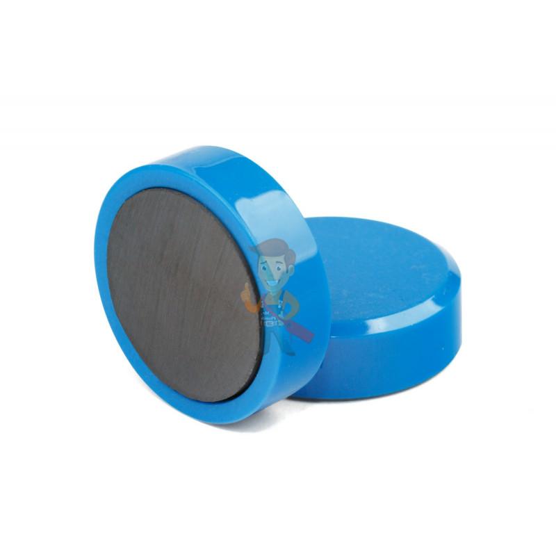 Магнит для магнитной доски Forceberg 30 мм, синий, 10шт. - фото 1