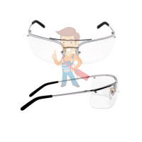 Cалфетки очищающие для ухода за очками в диспенсере, 500 штук в индивидуальных упаковках - Открытые защитные очки, прозрачные, покрытие AS/AF от покрытие AS/AF от царапин и запотевания