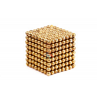 Forceberg TetraCube - куб из магнитных кубиков 6 мм, золотой, 216 элементов - Forceberg Cube - куб из магнитных шариков 2,5 мм, золотой, 512 элементов