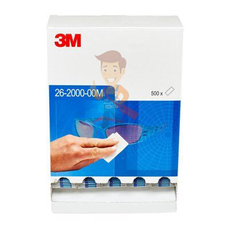 Cалфетки очищающие для ухода за очками в диспенсере, 500 штук в индивидуальных упаковках - фото 3