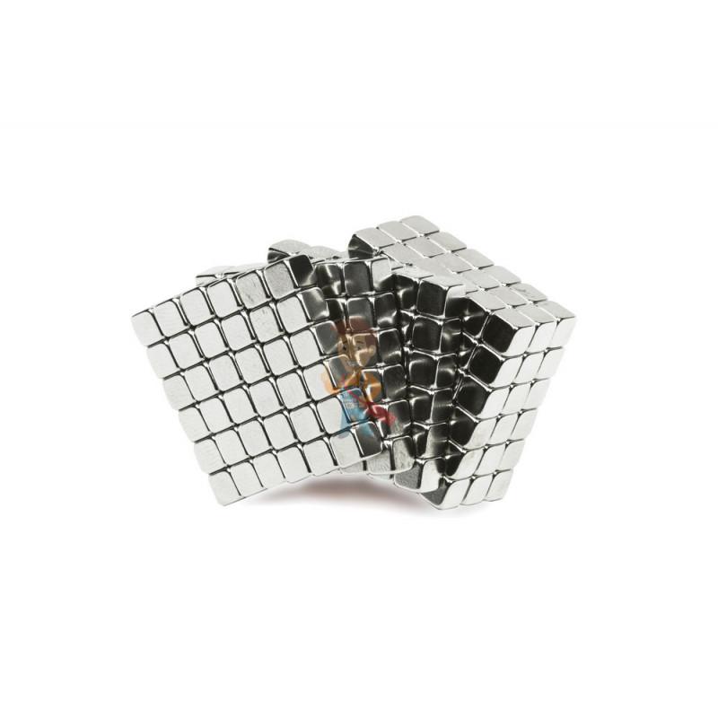Forceberg TetraCube - куб из магнитных кубиков 6 мм, жемчужный, 216 элементов - фото 1