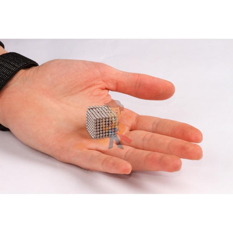 Forceberg Cube - куб из магнитных шариков 2,5 мм, стальной, 512 элементов - фото 2