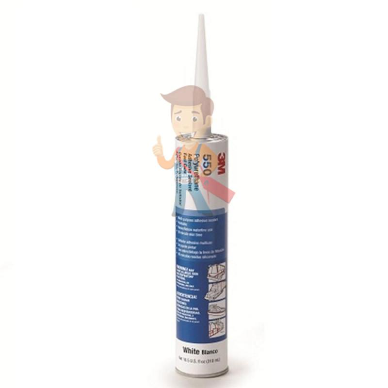 Клей-герметик полиуретановый 3М 550FC, однокомпонентный, серый, 310 мл