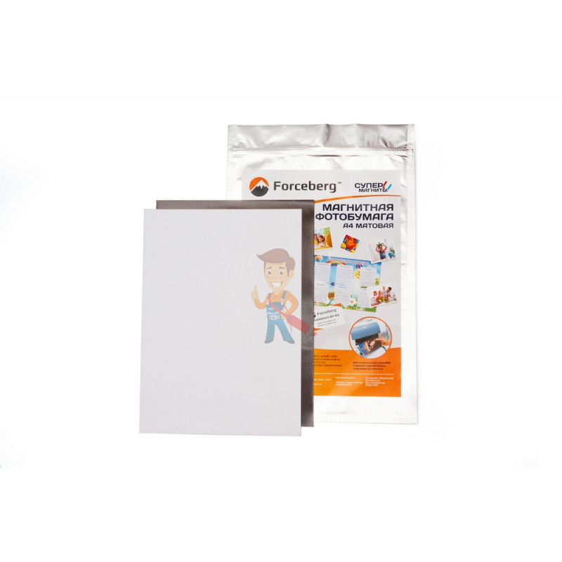 Магнитная бумага А4 матовая Forceberg 3 листа