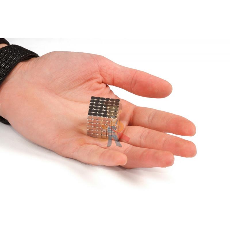 Forceberg TetraCube - куб из магнитных кубиков 4 мм, жемчужный, 216 элементов - фото 3