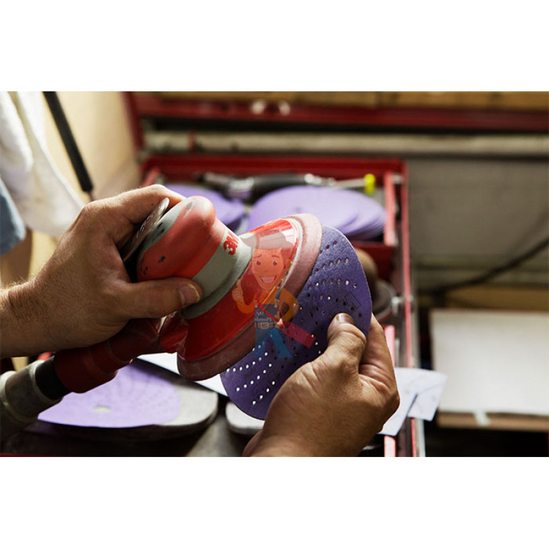 Круг абразивный c мультипылеотводом Purple+, 80+, Cubitron™ Hookit™ 737U, 150 мм - фото 1