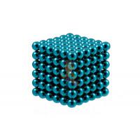 Forceberg Cube - куб из магнитных шариков 5 мм, стальной, 216 элементов - Forceberg Cube - куб из магнитных шариков 6 мм, бирюзовый, 216 элементов