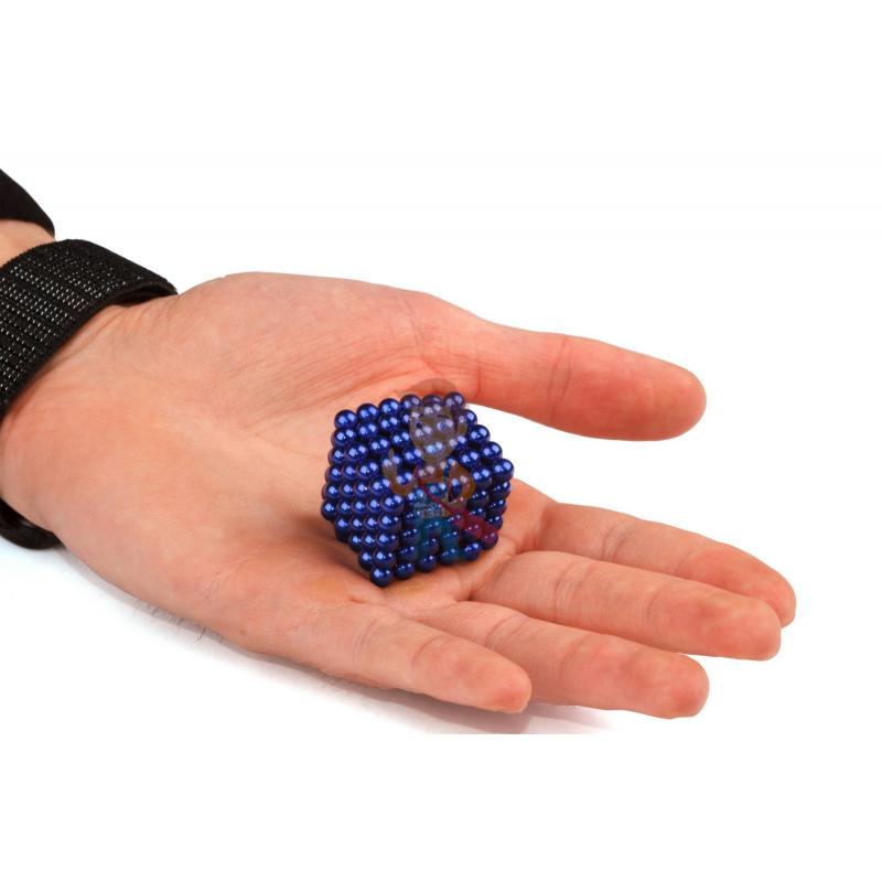 Forceberg Cube - куб из магнитных шариков 5 мм, синий, 216 элементов - фото 2