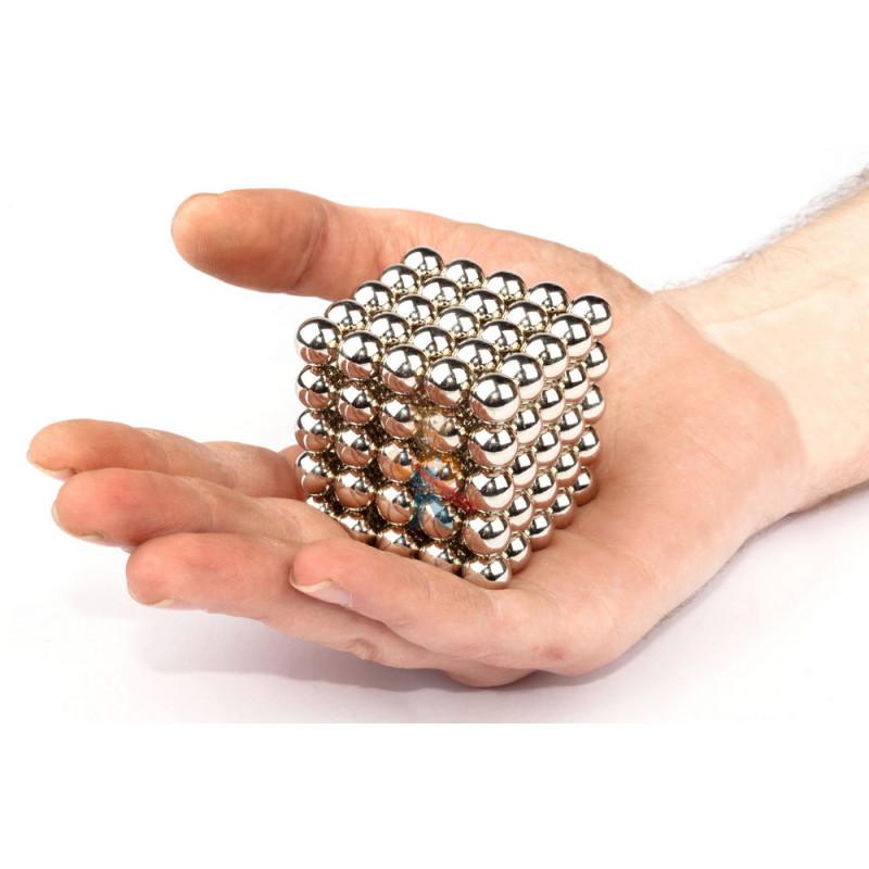 Forceberg Cube - Куб из магнитных шариков 10 мм, стальной, 125 элементов - фото 2