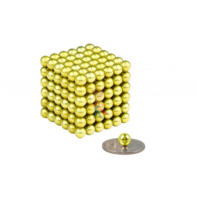 Forceberg Cube - куб из магнитных шариков 6 мм, оливковый, 216 элементов - фото 1