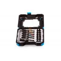 Быстросъемный магнитный держатель бит для ударного шуруповерта - Набор бит для ударного шуруповерта с магнитным держателем бит в кейсе, 18 предметов