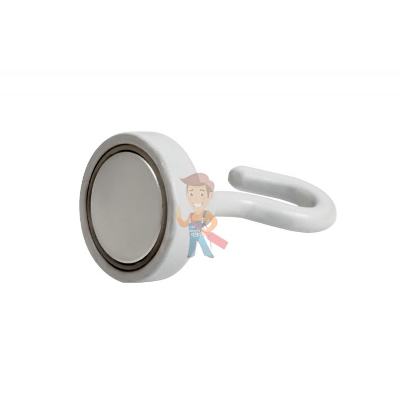 Крючки на неодимовом магните Forceberg Е25, сила сц. 15 кг, 2 шт., белые - фото 2