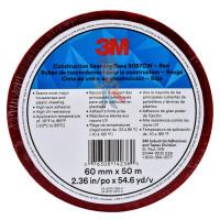 Застёжка Dual Lock™ SJ356B, прозрачная; 25 мм х 2.5 м - Лента Односторонняя для Гидроизоляции 8087CW, красная, 60 мм x 50 м