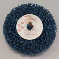 Круг для очистки поверхности CG-DС, S XCS, голубой, 100 мм х 13 мм, 2 шт/уп. - Шлифовальный круг Scotch-Brite™ Roloc™ + Clean and Strip CG-ZR, S XCS, голубой, 100 мм х 13 мм, 57018