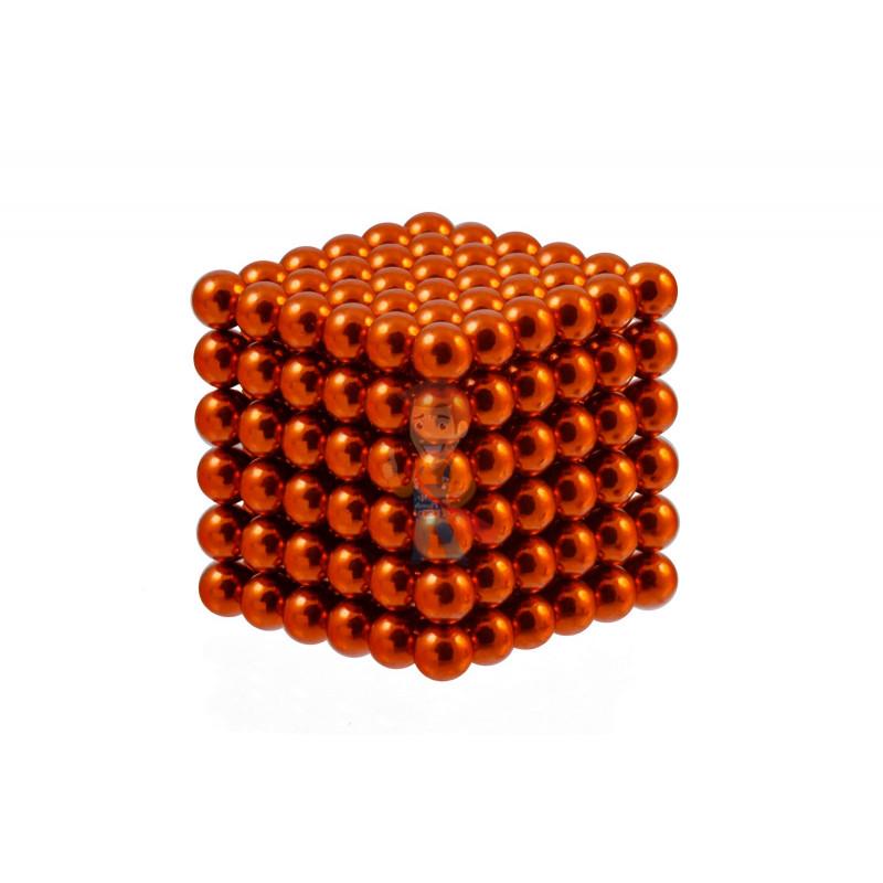 Forceberg Cube - куб из магнитных шариков 6 мм, оранжевый, 216 элементов