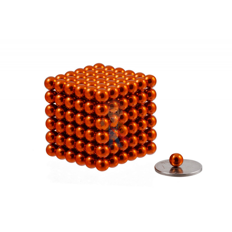 Forceberg Cube - куб из магнитных шариков 6 мм, оранжевый, 216 элементов - фото 1