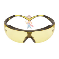 Cалфетки очищающие 3M, для ухода за очками, 100 шт. в индивидуальных упак. - Очки открытые защитные, цвет линз желтый, с покрытием Scotchgard Anti-Fog (K&N)
