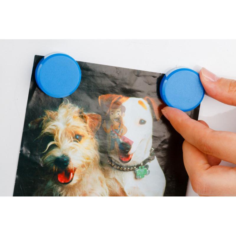 Магнит для магнитной доски Forceberg 30 мм, синий, 10шт. - фото 4