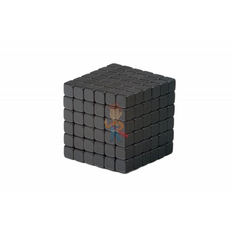 Forceberg TetraCube - куб из магнитных кубиков 6 мм, черный, 216 элементов