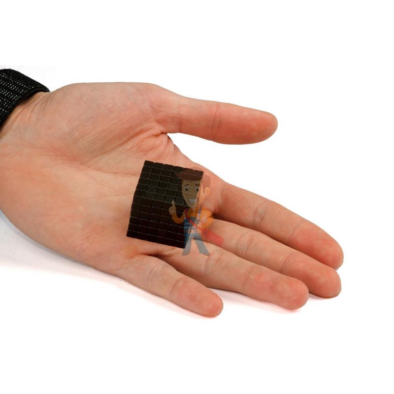 Forceberg TetraCube - куб из магнитных кубиков 5 мм, черный, 216 элементов - фото 3