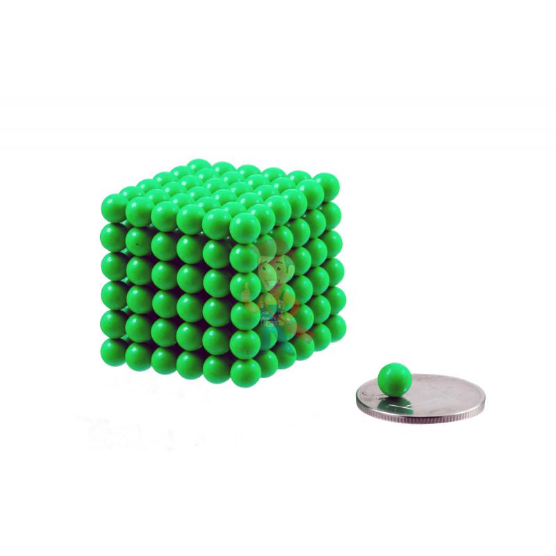Forceberg Cube - куб из магнитных шариков 5 мм, светящийся в темноте, 216 элементов - фото 1
