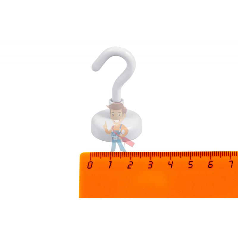 Крючки на неодимовом магните Forceberg Е25, сила сц. 15 кг, 2 шт., белые - фото 1