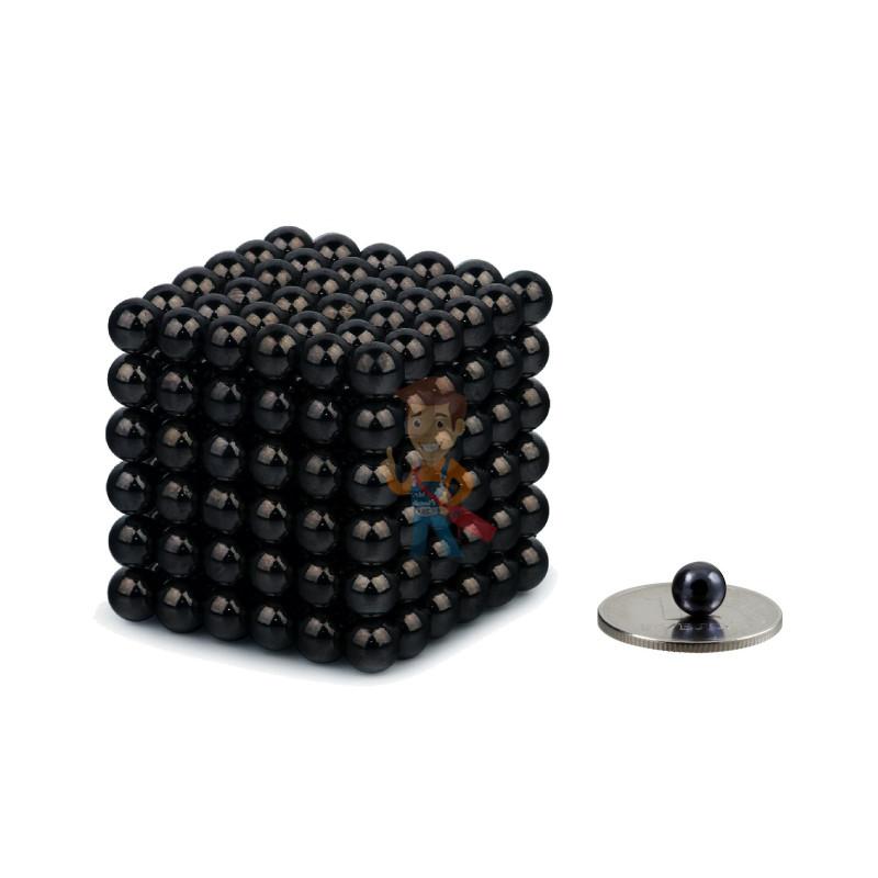 Forceberg Cube - куб из магнитных шариков 6 мм, черный, 216 элементов - фото 1