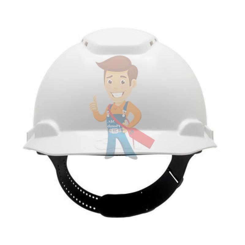 Каска защитная с вентиляцией, стандартное оголовье, белая - фото 1