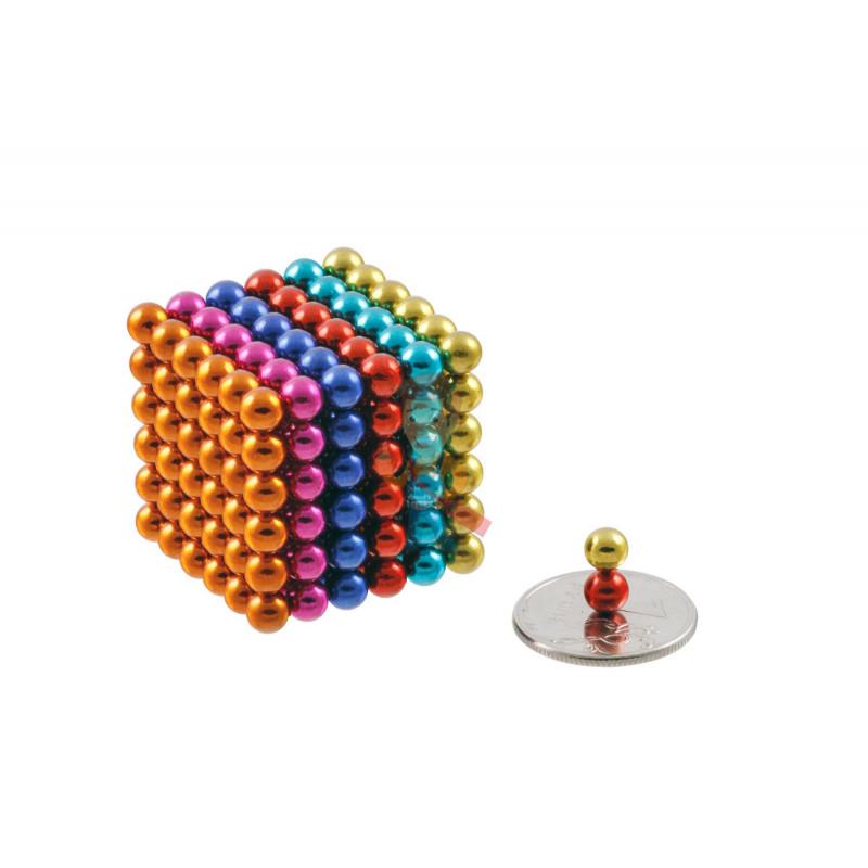 Forceberg Cube - куб из магнитных шариков 5 мм, цветной, 216 элементов - фото 1