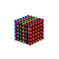 Forceberg Cube - куб из магнитных шариков 6 мм, бирюзовый, 216 элементов - Forceberg Cube - куб из магнитных шариков 5 мм, цветной, 216 элементов