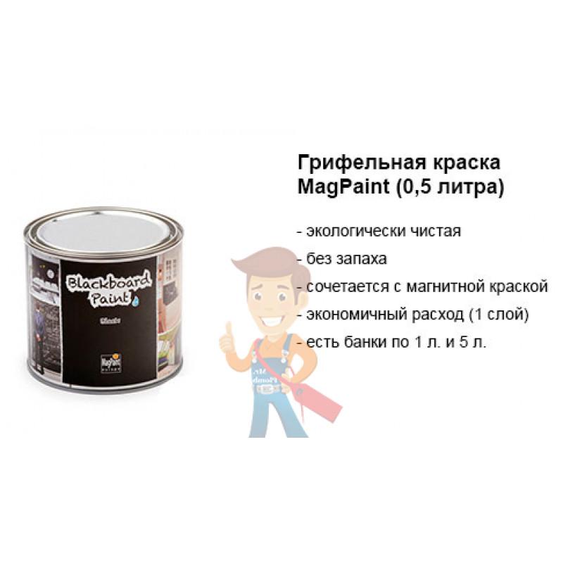 Грифельная краска MagPaint 0,5 литра, на 2,5 м² - фото 8