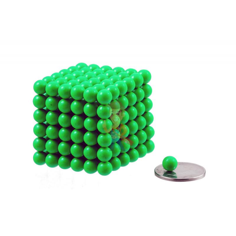 Forceberg Cube - куб из магнитных шариков 6 мм, светящийся в темноте, 216 элементов - фото 1