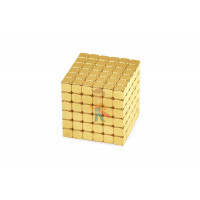 Forceberg TetraCube - куб из магнитных кубиков 7 мм, стальной, 216 элементов - Forceberg TetraCube - куб из магнитных кубиков 6 мм, золотой, 216 элементов
