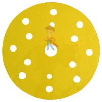 Круг Абразивный, золотой, 15 отверстий, Р80, 150 мм,3M™ Hookit™ 255P+, 10 шт/уп - Круг абразивный 255P+, золотой, 15 отв, Р320, 150 мм, 3M™ Hookit™