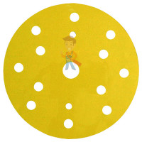 Круг Абразивный, золотой, 15 отверстий, Р320, 150 мм,3M™ Hookit™ 255P+, 10 шт/уп - Круг абразивный 255P+, золотой, 15 отв, Р80, 150 мм, 3M™ Hookit™