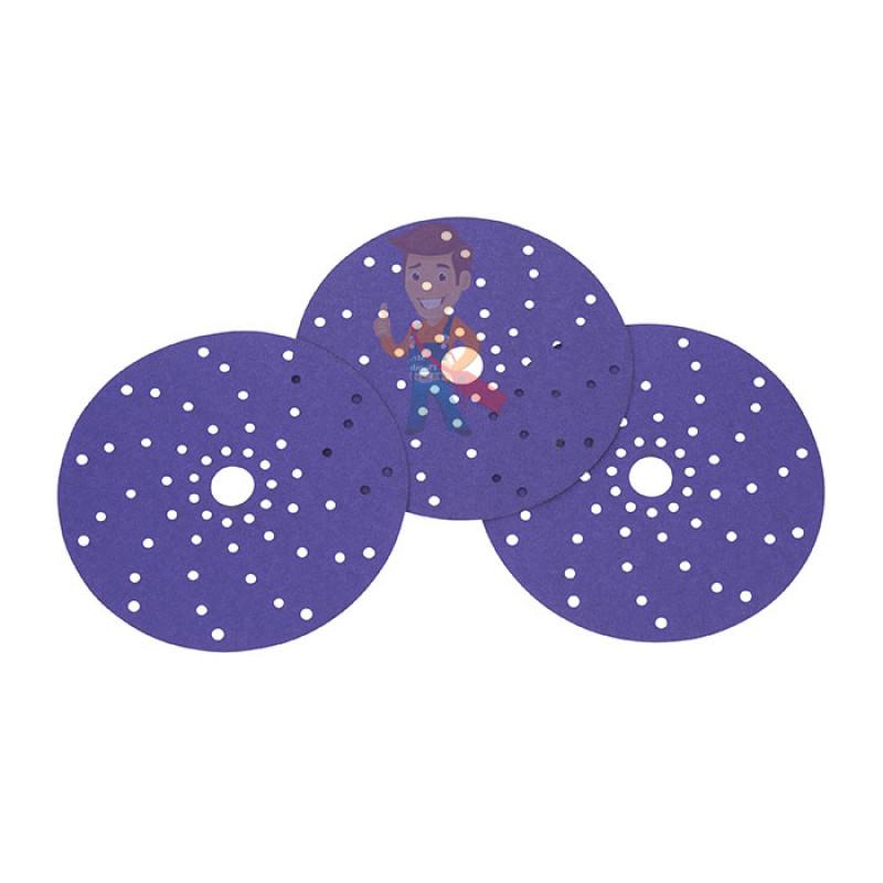 Круг абразивный c мультипылеотводом Purple+, 220+, Cubitron™ Hookit™ 737U, 150 мм - фото 6