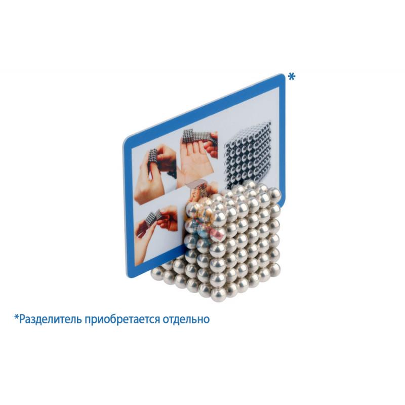 Forceberg Cube - куб из магнитных шариков и кубиков 5 мм, цветной/стальной, 512 элементов - фото 3