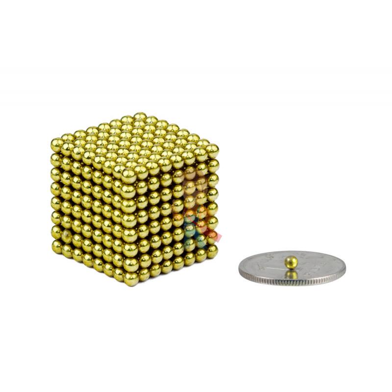 Forceberg Cube - куб из магнитных шариков 2,5 мм, оливковый, 512 элементов - фото 1