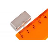 Магнитное крепление с отверстием В48 - Неодимовый магнит прямоугольник 25,4х12,5х9,3 мм, N42H