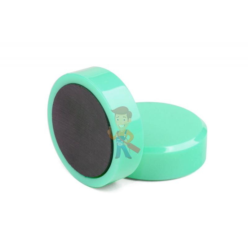 Магнит для магнитной доски Forceberg 30 мм, зеленый, 10шт. - фото 1