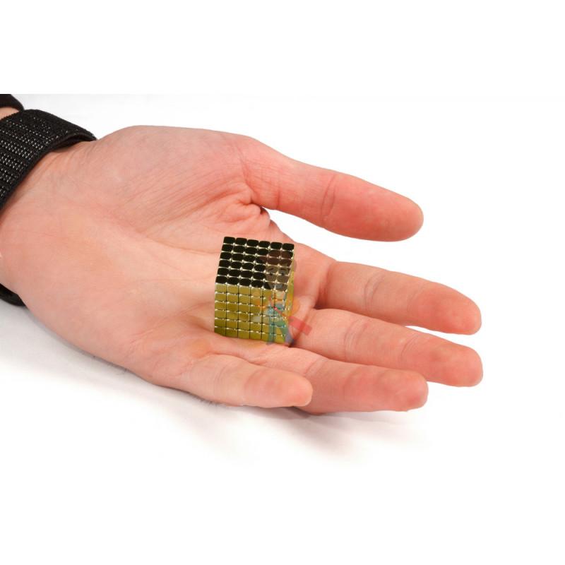 Forceberg TetraCube - куб из магнитных кубиков 4 мм, золотой, 216 элементов - фото 3