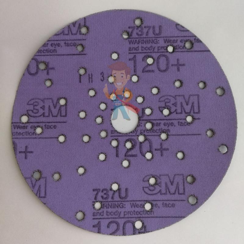 Круг абразивный c мультипылеотводом Purple+, 120+, Cubitron™ Hookit™ 737U, 150 мм - фото 6