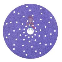 Круг абразивный гибкий Hookit™ 150 мм, Р2000, на вспененной основе - Круг абразивный c мультипылеотводом Purple+, 120+, Cubitron™ Hookit™ 737U, 150 мм