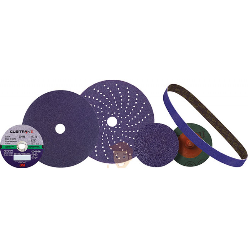 Круг абразивный c мультипылеотводом Purple+, 80+, Cubitron™ Hookit™ 737U, 150 мм - фото 5