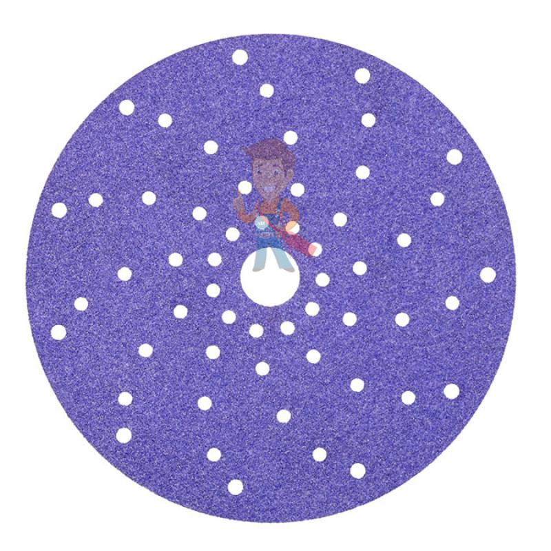 Круг абразивный c мультипылеотводом Purple+, 80+, Cubitron Hookit 737U, 150 мм - фото 1