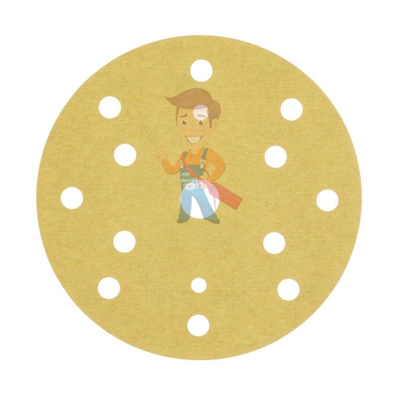 Круг Абразивный, золотой, 15 отверстий, Р280, 150 мм,3M Hookit 255P+ 10шт/уп - фото 3