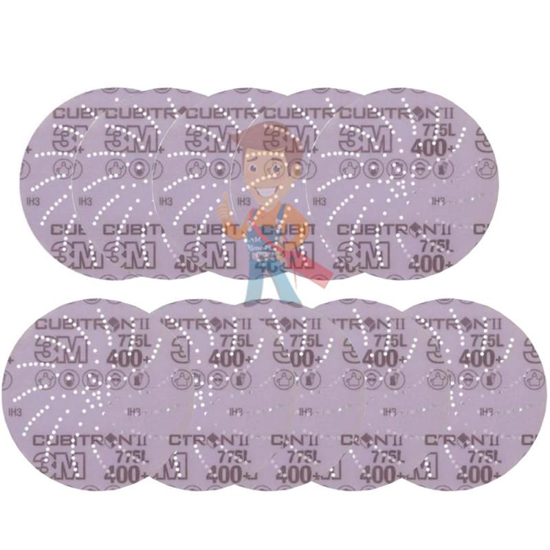 Круг Шлифовальный, 400+, 125мм, Клин Сэндинг, 3M Cubitron II Hookit 775L  10 шт./уп.