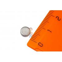 Магнитная застежка 10х2 мм с ПВХ - Неодимовый магнит диск 6х2 мм