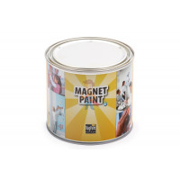 Грифельная краска Siberia PRO 5 литров, на 25 м² - Магнитная краска MagPaint 0,5 литра, на 1 м²